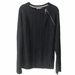 MEXX Men's Black Knit Long Sleeve Top Large